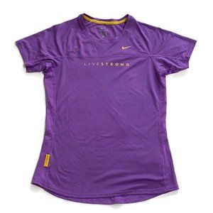 Nike LiveStrong Short Sleeves Women Sz Tee